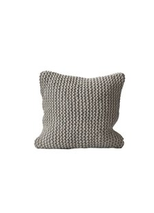 Tell me more Knitted rope cushion cover - 100% cotton - light grey - Tell Me More