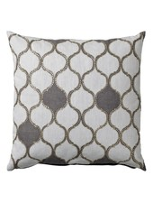 Bloomingville Habiba cushion - white / grey - 50x50cm - Bloomingville