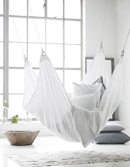 Scandinavian decor with gray bedding - Seen on Pinterest - Copy - Copy