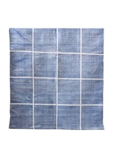 Tell me more Tapis Scandinave en coton lavé - bleu - 140x200m - Tell me more