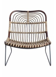 House Doctor Armchair Lounge Rattan Kawa - House Doctor