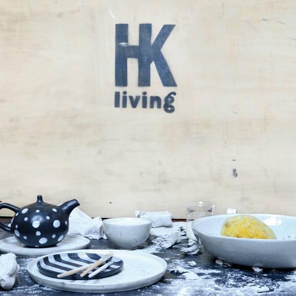 HK Living Set of 2 ceramic bowls - 12cm - HK Living