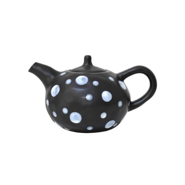 HK Living Ceramic teapot - black and white - HK Living