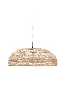 HK Living Lampe Suspension en osier - Ø60xh20cm - HK Living