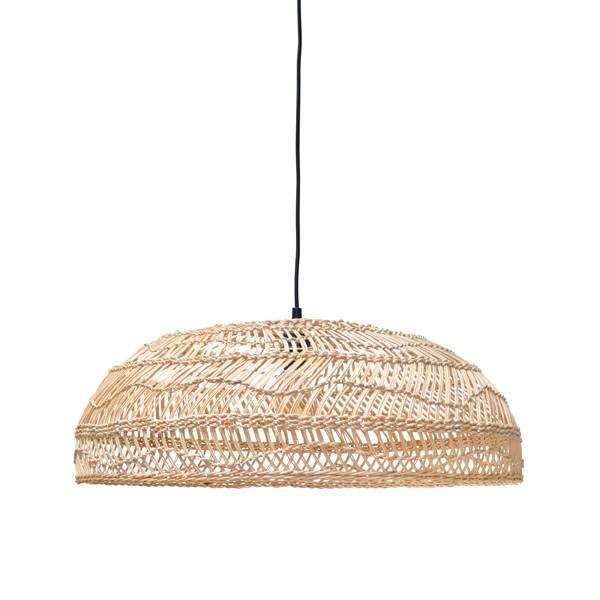 HK Living Lampe Suspension en osier - Ø60xh20cm - HK Living