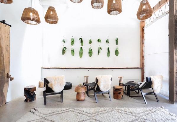 Ambiance épurée et ethnique dans ce Spa Boho Chic à Los Angeles - Vu sur Intagram @thenowmassage
