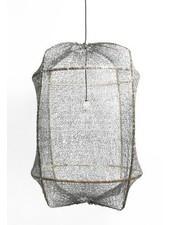 Ay Illuminate Lámpara de Suspensión ONA Z2 en té y sisal - Ø77cm - gris - Ay Illuminate