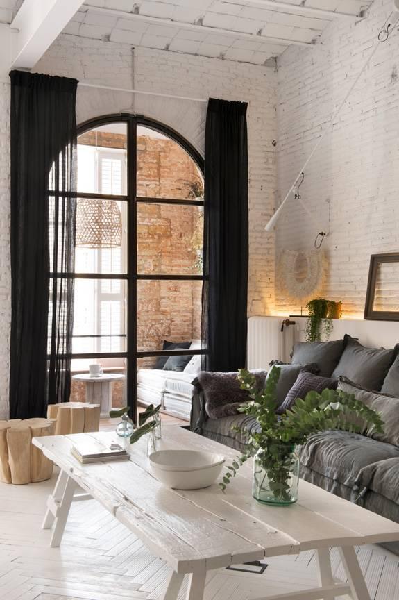 Réhabilitation Bohème Scandinave d'un appartement Barcelonais - par Marta Castellano