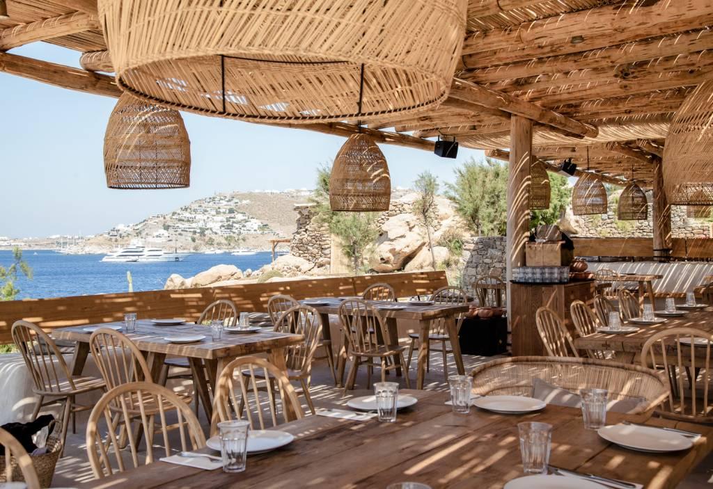 Espléndido Ambiente Bohemio - Restaurante & Bar Scorpios en Mykonos