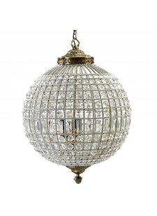 """Nordal Lámpara de Suspensión """"Gran Bola de Cristal"""" - Perlas de vidrio / metal - Ø50cm x H72cm - Nordal"""