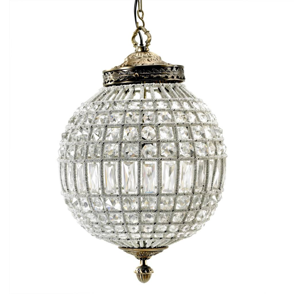 Nordal Gran bola de cristal de la lámpara colgante - perlas de vidrio / metal - Ø35cm - Nordal