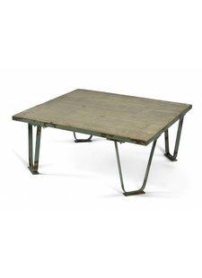 Nordal Table basse industrielle - métal - vert - Nordal