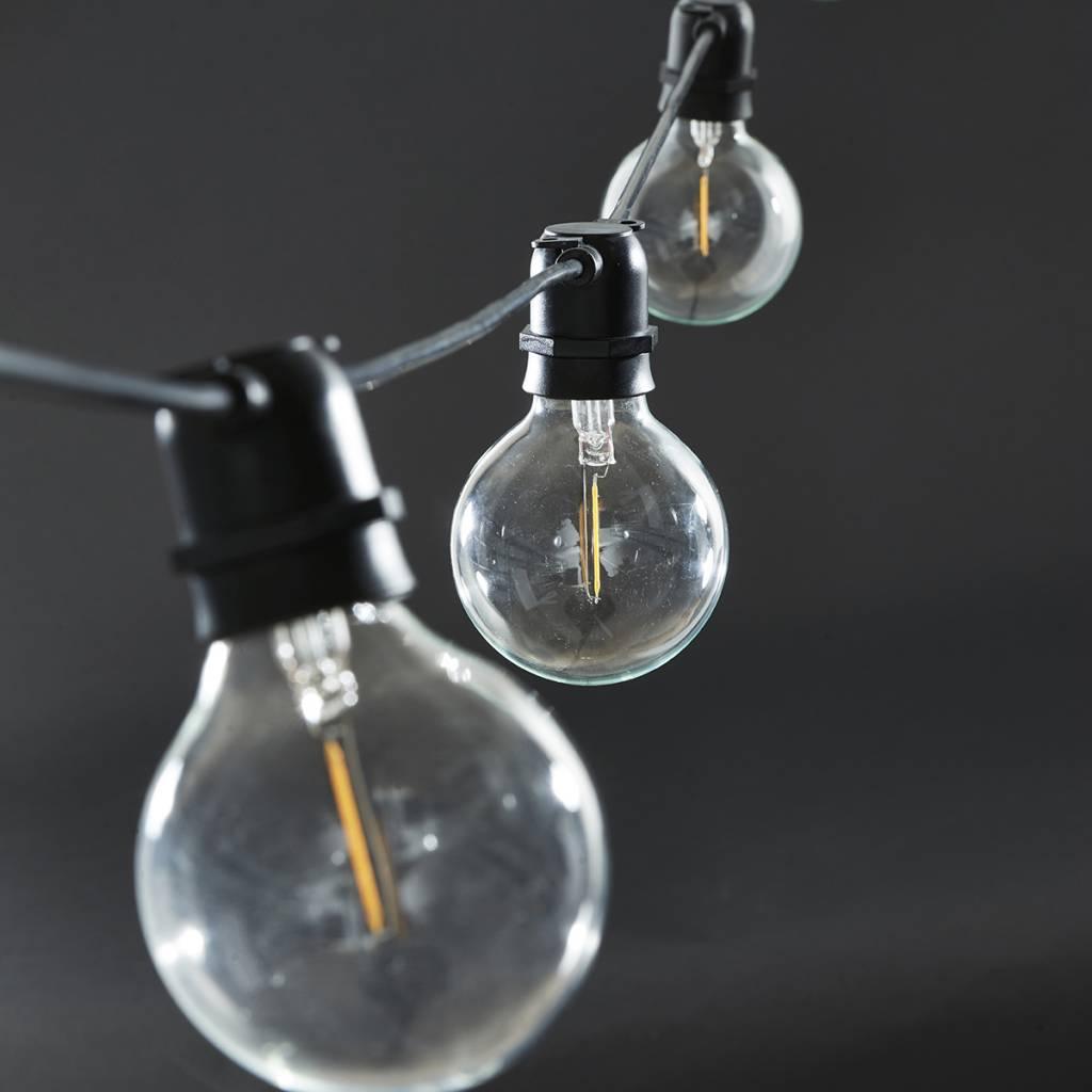 House Doctor Chaîne de lumières 'Function' - intérieure et extérieure - 10,2m - Noir - House Doctor