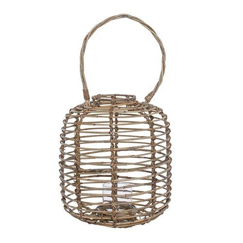 Bloomingville Lantern in wood and glass - Ø25 - H35cm - Bloomingville