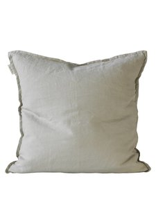 Tell me more Cushion cover 100% linen - light gray - 50x50 - Tell Me More