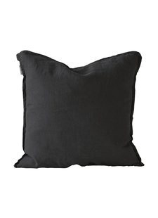 Tell me more Cushion cover 100% linen - black - 50x50 - Tell Me More