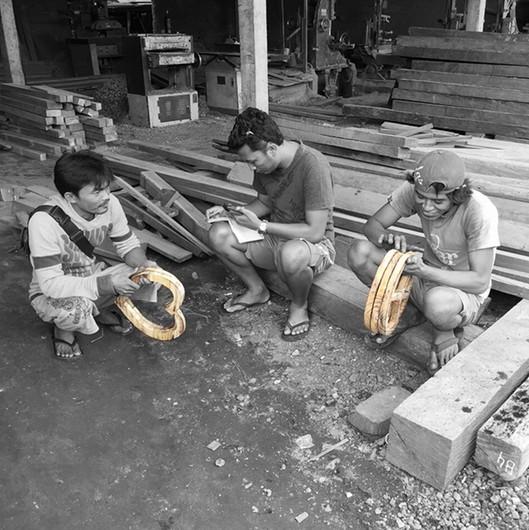 MaduMadu Love Mala coconut - heart 32x30cm - MaduMadu