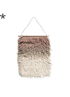 Bloomingville Wall Hanger in Pink wool - h90x60cm - Bloomingville