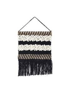 Bloomingville Colgadura de lana y yute - Negro - h60x50cm - Bloomingville