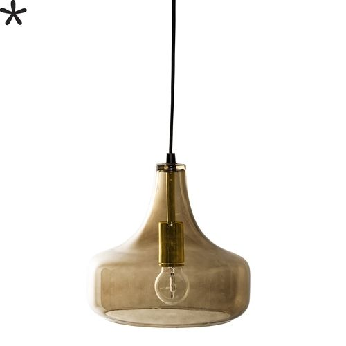 Bloomingville Glass pendant Lamp - Brown - Ø25,5xH23cm - Bloomingville