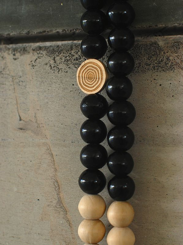 MaduMadu Peace Mala Black/Natural - 30cm - MaduMadu