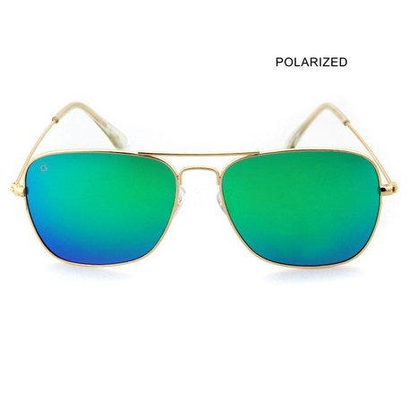 BRAD Gold/Green Mirror Polarized