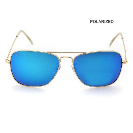 BRAD Gold/Ice Blue Mirror Polarized