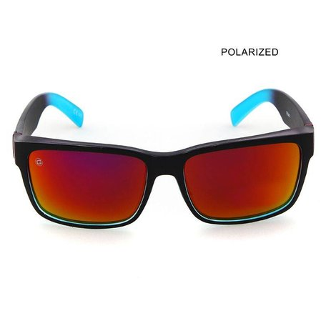 MR JOHNSON Black Blue/Sun Yellow Mirror Polarized