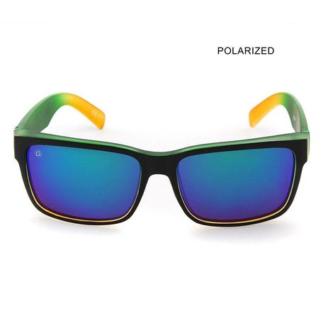 MR JOHNSON Black Green/Ice Blue Mirror Polarized