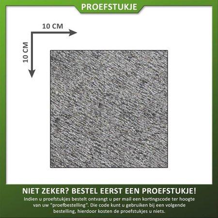 Natuursteenvoordelig Proefstukje natuursteen basalt gefrijnd
