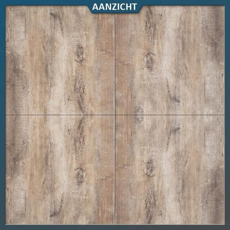 MBI Geoceramica Timber Noce 60x60x4 cm Tuintegel