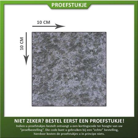 Natuursteenvoordelig Proefstukje natuursteen Basalt Vietnam gevlamd/geborsteld