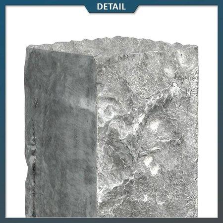 Natuursteenvoordelig Palissade Chinees Hardsteen 12x12x50 cm