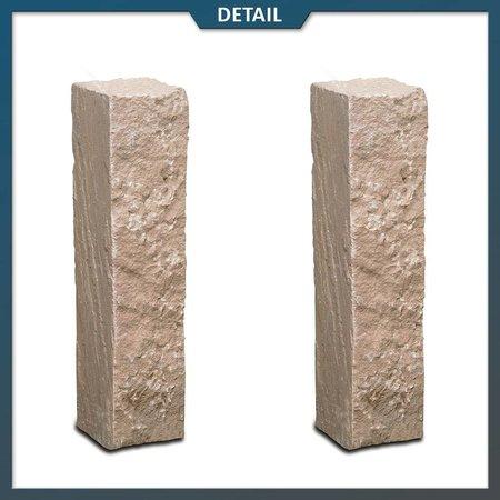 Natuursteenvoordelig Palissade Zandsteen Modak 12x12 cm