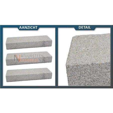 Natuursteenvoordelig Traptrede Graniet Geel gebouchardeerd 100x35x15 cm