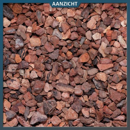 Natuursteenvoordelig Rode mijnsplit 16-22 mm