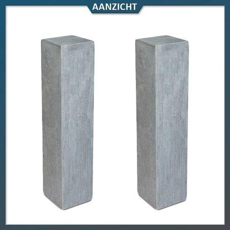 Natuursteenvoordelig Palissade Chinees Hardsteen Gezoet 12x12x50 cm