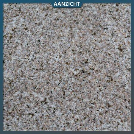 Natuursteenvoordelig Graniet Tegel Geel Gebouchardeerd