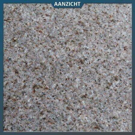 Natuursteenvoordelig Graniet Tegel Geel Gevlamd/geborsteld