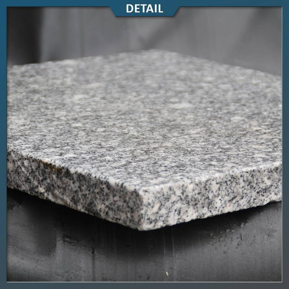 Graniet Tegels Tuin.Graniet Tegel Lichtgrijs Gevlamd