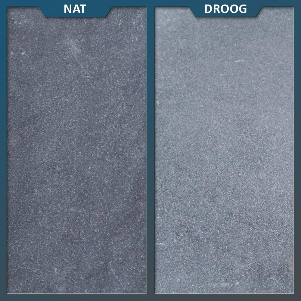 Hardsteen Tuintegels 60x60.Vietnamees Hardsteen Gezandstraald 60x60x3 Cm