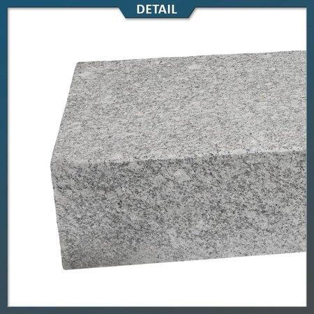 Natuursteenvoordelig Traptrede Graniet Lichtgrijs G603 Gevlamd