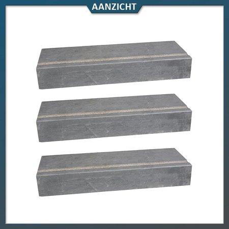 Natuursteenvoordelig Traptrede Chinees Hardsteen 100x35x15 cm anti-slip