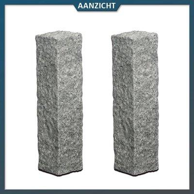Natuursteenvoordelig Palissade Graniet Antraciet 12x12 cm