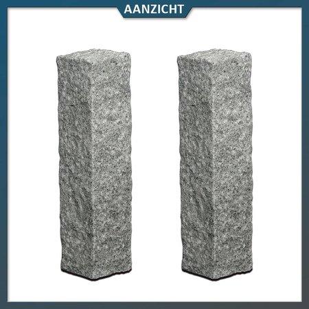 Natuursteenvoordelig Palissade Graniet G654 Antraciet 12x12 cm