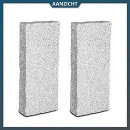 Natuursteenvoordelig Palissade Graniet G603 lichtgrijs 10x25 cm