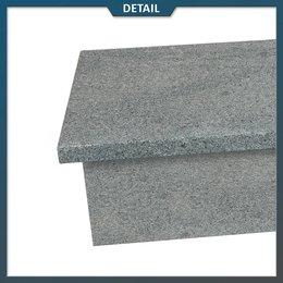 Natuursteenvoordelig Stootbord en opstap Graniet Antraciet