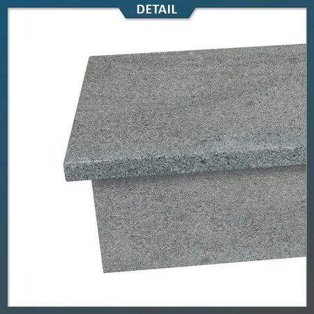 Natuursteenvoordelig Stootbord en opstap Graniet G654 Antraciet