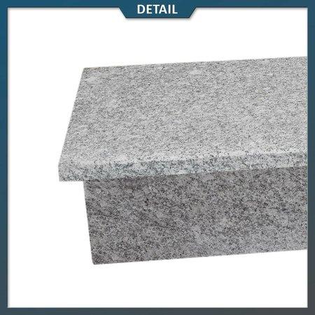 Natuursteenvoordelig Stootbord en opstap Graniet Lichtgrijs G603 gevlamd