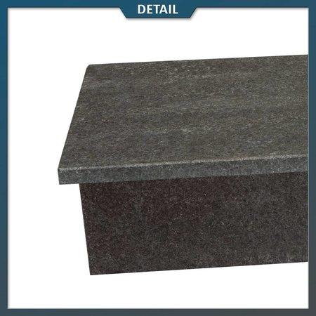 Natuursteenvoordelig Stootbord en opstap Basalt G684